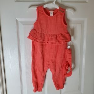 ☘4 for $25☘NEW Coral Romper 6-9M